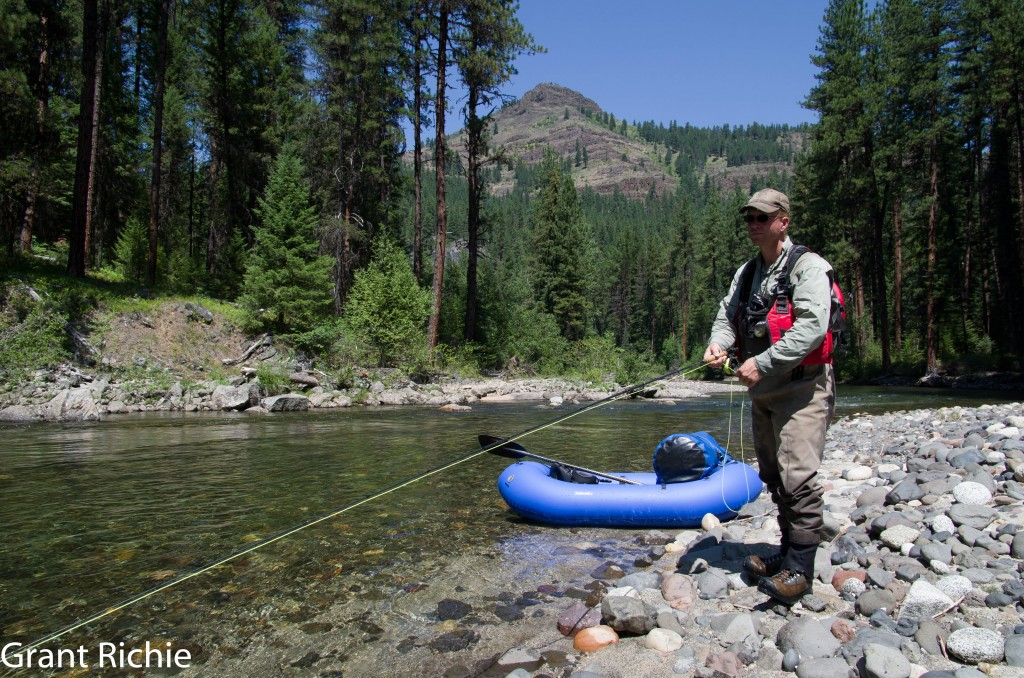 fly fishing the Minam River