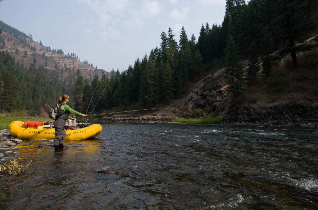 Steelhead fishing Grande Ronde rafting